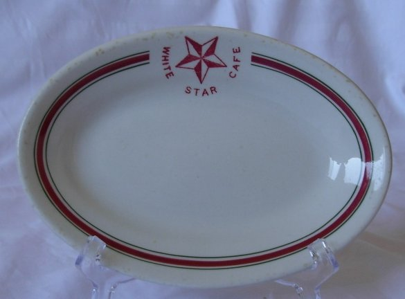 White Star Cafe Plate